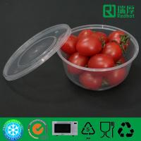 Quality Round PP Feature Microwave Takeaway Plastic Food box 625ml wholesale