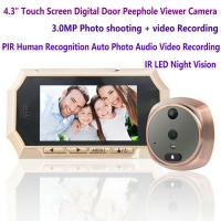 "Quality 4.3"" Digital Door Peephole Viewer Photo Video Camera Recorder Night Vision Door Eye Smart PIR Doorbell Intercom System wholesale"