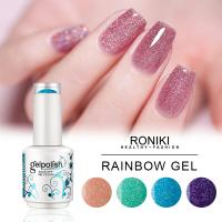 China RONIKI Rainbow Gel Color,Nail Matte Gel Polish,Nail Painting Color Gel,Nail Art Gel on sale