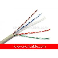 China UL Lan Cable Cat6 UTP Solid 23AWG 4Pairs OD6.5mm on sale