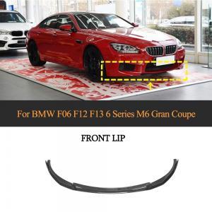 China Carbon Fiber F06 F12 F13 Front Bumper Lip Splitter for BMW 6 Series M6 Gran Coupe 2013-2016 on sale