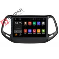 Quality Dual Zone Jeep Compass Head Unit , Touch Screen Radio Navigation System wholesale