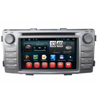 Quality Toyota Hilux GPS Navigation Android DVD Player 3G Wifi SWC BT RDS TV wholesale