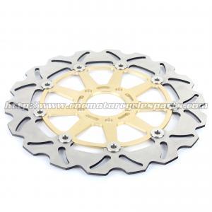 Quality Kawasaki ZXR 250 Motorcycle Brake Disc Rotors And Brakes CNC Anodized Black Gold wholesale