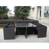 China 5pcs rattan cube sets outdoor wicker sofa set with square table on sale