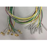 Quality Golden Plated Electrodes EEG Cables 1.2m / 1.5m Length TPU Cable Material wholesale