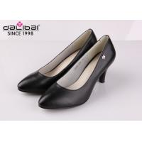 China Cow leather wedge heel non slip leather dress shoes for senior executive women on sale