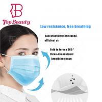 China Non Woven Sterile Face Masks Antiviral Respirators Solvent Spray Cloth on sale