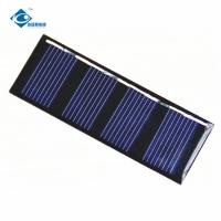 China 2V custom shaped solar panels ZW-7025-2V flexible poly crystalline solar panel 0.18W on sale
