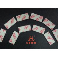 Quality Fiber Rice Desiccant With Thin Sticker Tape , Food Grade Desiccant Packets 1.0mm Thickness wholesale