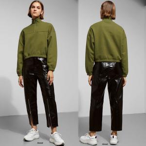China New Fashion Fall Clothing Turtle Neck Zipper Sweatshirt Women on sale