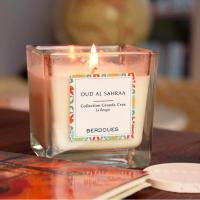 Quality Glass Jar Scented Soy Wax Candle / Non Toxic Scented Candles With Luxury Packing wholesale