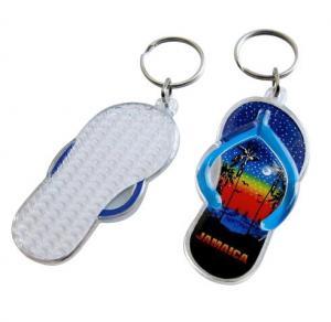 China Fashion design 3d mini blue shoe shaped acrylic keychain with custom logo for promotional on sale