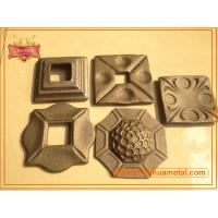 Quality hammer forged steel plate,ornamental wrought iron plate,hot forged base plate for baluster wholesale