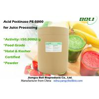 Quality High Purity Pectinase In Fruit Juice Production , High Activity Pectin And Pectinase wholesale