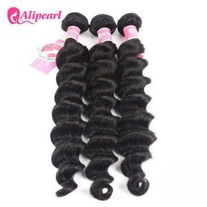 Quality Loose Deep Wave Real Brazilian Hair Bundles , Curly Human Hair Weave wholesale