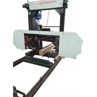 Buy cheap Diesel engine Hydraulic Motor Horizontal Band Saw Mills with Log lifting Arm from wholesalers
