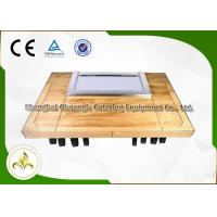 Quality Customized Rectangle Teppanyaki Hibachi Grill Table , Gas Grill Griddle Plate wholesale