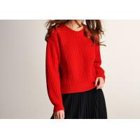 Quality Lady Joyous Chinese Red Crew Neck Winter Jumper wholesale