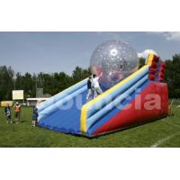 Quality PVC Zorb Ball Racing Track , Zorb Ramp Used On Grassland Or Snow Field wholesale