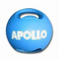 Cheap Rubber Medicine Ball with Waterproof Feature and Handle, Comes in Blue for sale