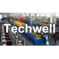 Quality High Quality PU Foam Rolling Door Slat Roll Forming Machine With Flying Saw Tracking Cut wholesale
