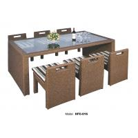 China rattan high top table and chairs cream rattan chair table set on sale