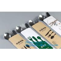 Quality Classic type stainless steel cultery set with plastic handle,fashion design stainless steel cultery with black handle di wholesale