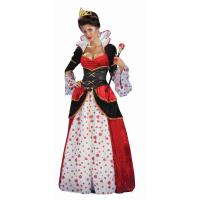 Quality Alice in Wonderland Costumes Deluxe Gown Queen of Hearts Womens Costume in red with dress waist cincher size S to 3Xl wholesale