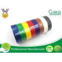 China White /  Yellow / Red Crepe Paper Decorative Masking Tape With Rubber Based Gule on sale