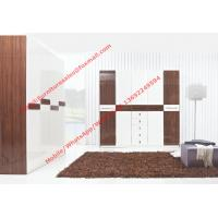 Cheap Hotel Interior Design by project Furniture in-wall Wardrobe cabinet high glossy for sale