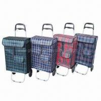 China EVA Wheel Shopping Carts, Made of PE Fabric, Suitable for Shopping and Travel, Cheap in Prices on sale
