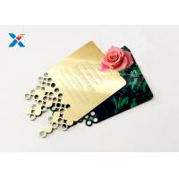Quality Mirror Acrylic Gifts , Acrylic Invitation Card With Custom Shape For Wedding / Party wholesale