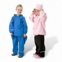 Quality PU Children's Rainwear, Various Styles are Available wholesale