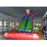 Quality Colorful 18.5oz Inflatable Water Slide , Inflatable Slide And Pool wholesale