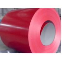 Red Prepainted Steel Coil For corrugated plate, G550 0.12-0.2mm Overthin Sheet Metal Coil