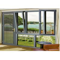 Quality Outer Opening Aluminium Glass Door , Wind Proof Hanging Glass Window wholesale