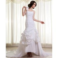 Quality Womens Extra Long Train ruffled slim Wedding Dresses with Flower Shaped wholesale