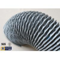 Quality PVC Coated Fiberglass Fabric HAVC Flexible Air Duct 200MM Grey 260℃ Waterproof wholesale