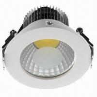 China Recessed COB Downlight with Frosted Glass Cover on sale
