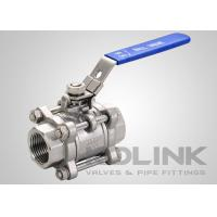 China 3-piece Stainless Steel Ball Valve BSP Socket-weld SS304 SS316 Locking Device on sale