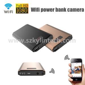 China 10000ma metal case 1080p full hd power bank wifi wireless hidden spy camera on sale