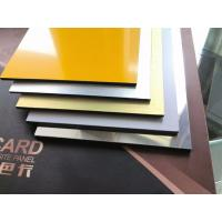 China Glossy Aluminum Composite Panel interior designing Living room home decoration wall panel ACP sheets best price on sale
