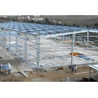 Quality Hot - Dipped Galvanized Steel Frame For Garage With Colored Steel Roof /  Wall wholesale