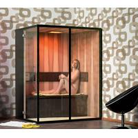 China Hemlock Wood 3 Person Infrared Sauna Room 1800w With Video Player on sale