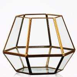 China Modern Tabletop Decor Glass Homeware Geometric Terrarium DIY Flower Display Vase on sale