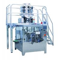 China Popcorn Rotary Pouch Packing Machine 6 / 8 Stations Stainless Steel 304 Material on sale