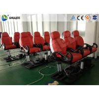 Cheap Red Color Luxury Seats 5D Movie Theater For Mobile Truck / Museum / Park for sale