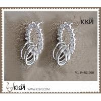 Quality 925 fashion sterling silver gemstone earrings with competitive price W-AS1098 wholesale