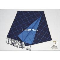 China Dark Blue Woven Silk Scarf Plain  , Silk Scarves For Men on sale